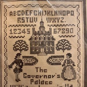 Stamped Cross Stitch Governor's Palace SEALED